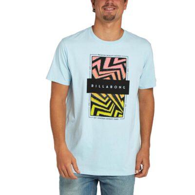 Camiseta BILLABONG para hombre manga corta LOCKED IN SS TEE Sky blue Ref. H1SS21 Azul claro