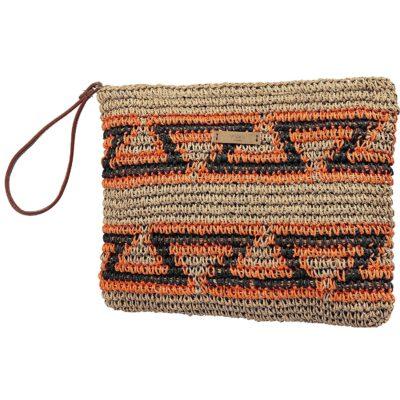 Bolso BARTS de mano de paja para mujer Clutch Daalto Ref. 8785011 estampado natural gráfico