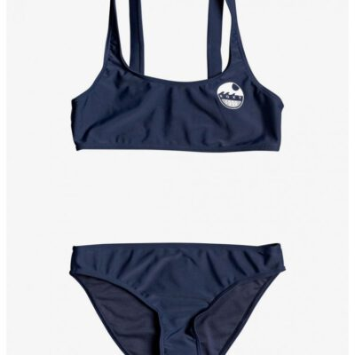 Conjunto de Bikini ROXY dos piezas niña Bralette Early ROXY INDIGO (bsp0) Ref. ERGX203263 azul marino liso