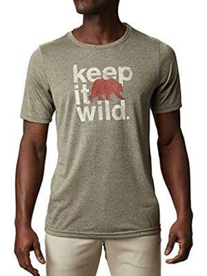 Camiseta COLUMBIA manga corta hombre Terra Vale™ II New Olive Heather Keep It Wild Ref. 1888843327 verde oso rojo