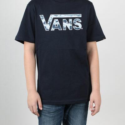 Camiseta VANS manga corta niño by classic logo fill bloom Ref. V2R2J4H azul marino logo camuflaje
