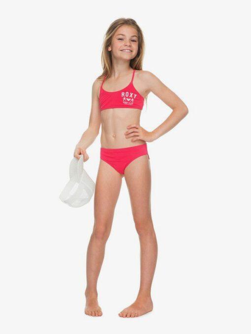 Conjunto de Bikini ROXY dos piezas niña Need The Sea ROUGE RED (mlj0) Ref. ERGX203114 rojo