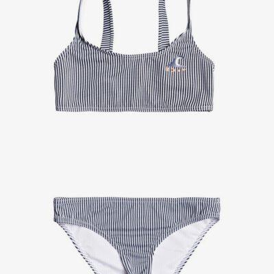 Conjunto de Bikini ROXY dos piezas niña Bralette Early ROXY MOOD INDIGO VOGIA S (bsp3) Ref. ERGX203263 rayas blanco/ marino