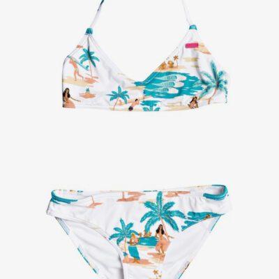 Conjunto de Bikini ROXY dos piezas niña Love Waimea BRIGHT WHITE HONOLULU S (wbb9) Ref. ERGX203269 blanco floral