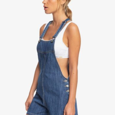 Mono corto ROXY Peto vaquero para Mujer Feet On The Floor MEDIUM BLUE (bmtw) Ref. ERJDS03224 azul jeans