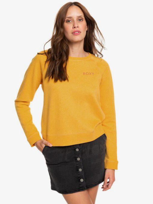 Sudadera ROXY cuello redondo Mujer Stay Together GOLDEN GLOW HEATHER (yksh) Ref. ERJFT04066 amarilla mostaza