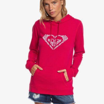 Sudadera ROXY Capucha para Mujer Shine Your Light Ref. ERJFT04155 fucsia logo pecho