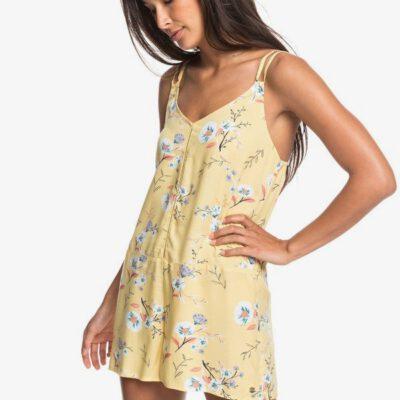 Mono Vestido ROXY Corto con Tiras para Mujer Blissing Me (ygd6) Ref. ERJWD03431 amarillo flores