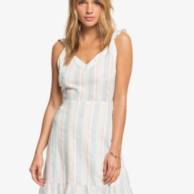 Vestido ROXY corto e Tiras para Mujer Sunday With You SNOW WHITE OMEGA STRIPE (xwbn) Ref. ERJWD03461 blanco rayas