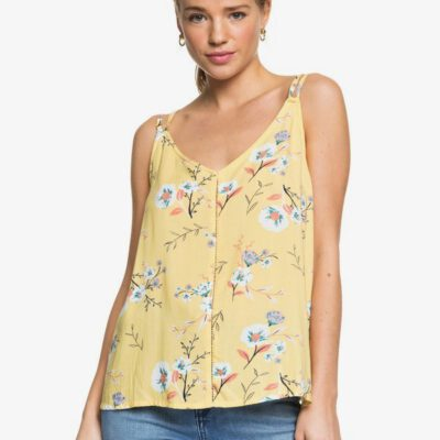 Camisa top ROXY Mujer tirantes Got To Be Real SAHARA SUN ON THE RIVER (ygd6) Ref. ERJWT03371 amarilla flores