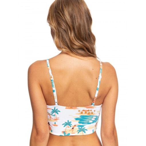 Top de bikini ROXY Triangular para Mujer Printed Beach Classics (wbb9) Ref. ERJX304074 blanco aloha