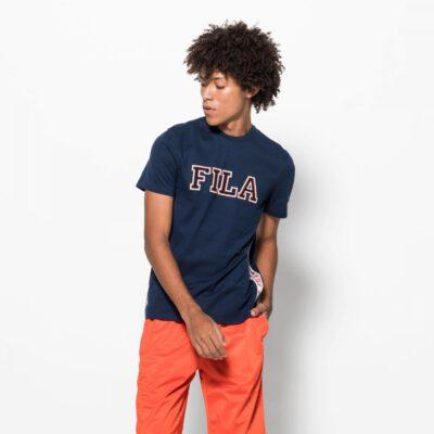 Camiseta manga corta FILA chico HANK Tee ss Ref. 6877005 Azul banda laterales logo