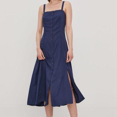 Vestido RVCA tirantes medio largo mujer JETHRO INK (2313) Ref. W3DRRJ RVP1 Azul liso botones