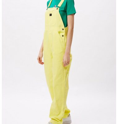 Mono peto tirantes OBEY chica SLACKER OVERALL Lemon Ref. 242020065 amarillo limón liso