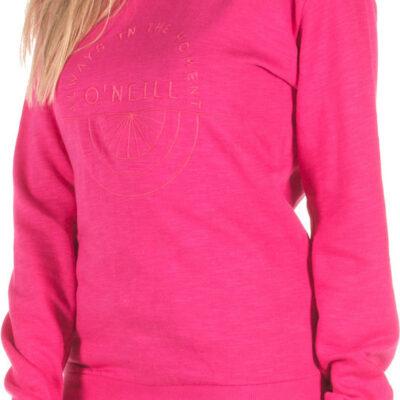 Sudadera O'NEILL cuello redondo para mujer LW EASY CREW SWEATSHIRT Hot pink Ref. 8P6406 fucsia