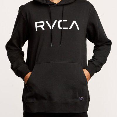 Sudadera RVCA con capucha unisex BIG RVCA HOODIE Black Ref. U1HORF negra logo blanco