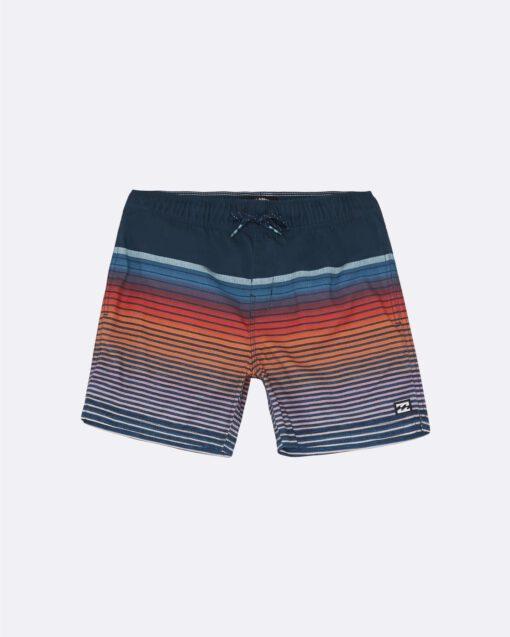 Bañador BILLABONG surfero niño Short elástico All Day Stripe Dusty Blue Ref. S2LB12 multicolor rayas