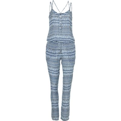 Mono largo O'NEILL práctico y cómodo para Mujer LW SAND CITY PRINT JUMPSUIT Ref. 8A8904 blanco/azul
