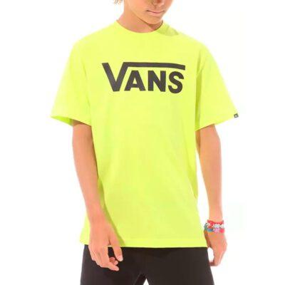 Camiseta VANS manga Corta niño By checker classic Boys yelow Ref. VN000IVFYND amarilla logo negro