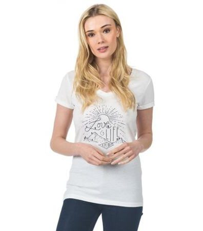 Camiseta RIP CURL manga corta para mujer SANGUDO TEE CANNOLI CREAM Ref. GTEOZ4 crema dibujo pecho