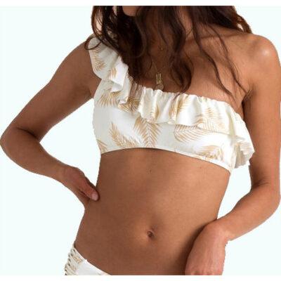 Sujetador de bikini BILLABONG 1 pieza top volantes para Mujer Dos palmas ruffle seashell Ref. N3ST39 blanco floral