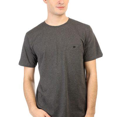 Camiseta DC Shoes manga corta básica para hombre Durlston TEE (kvj5) Ref. EDYKT03271 gris jaspeada bolsillo pecho