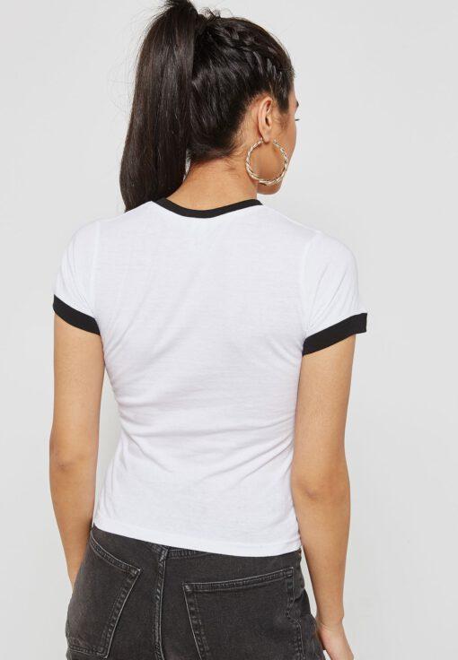 Camiseta OBEY manga corta para mujer STUCK IN THE MIDDLE White/black Ref. 266791246 blanca/negra
