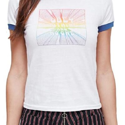 Camiseta OBEY manga corta para mujer NO ONE White Ref. 266791251 Blanca