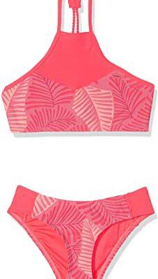 Conjunto de Bikini O'NEILL dos piezas Crop Top niña PG HIGH NECK Ref. 9A8374 flores tropicales