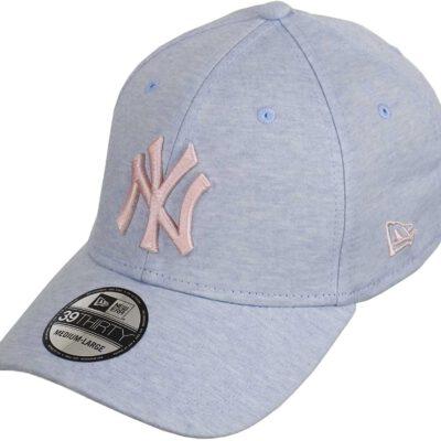 Gorra New Era Cap 39THIRTY NEW YORK YANKEES Jersey brights Ref. 11586133 azul agua logo rosa palo