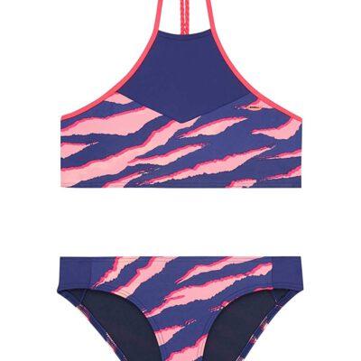 Conjunto de Bikini O'NEILL dos piezas Crop Top niña PG HIGH NECK Ref. 9A8374 azul/rosa