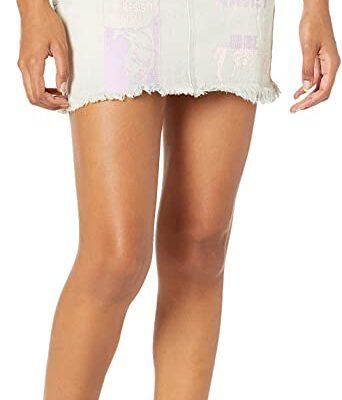 Falda Vaquera OBEY de Talle Alto para Mujer Sundays Skirt light bleach indigo Ref. 411550060 azul tejana tie die