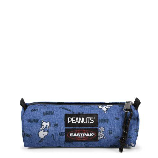 Estuche Eastpak escolar: Benchmark SINGLE EK372K57 Peanuts Snoopy azul divertido