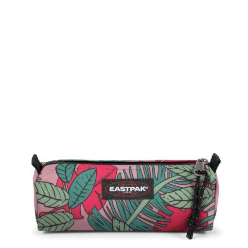 Estuche Eastpak escolar: Benchmark SINGLE EK372K81 Brize Tropical flores rosa multicolor