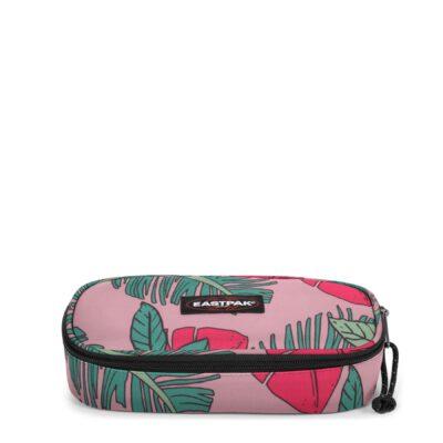 Estuche escolar Eastpak: PLUMIER OVAL EK717K81 Brize Tropical flores rosa