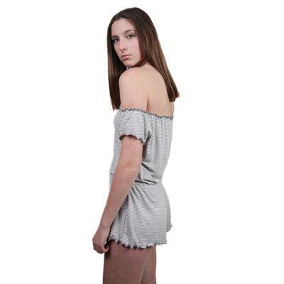 Mono corto OBEY 1 pieza para Mujer Luna romper Heather grey multi Ref. 272140027 gris rayado