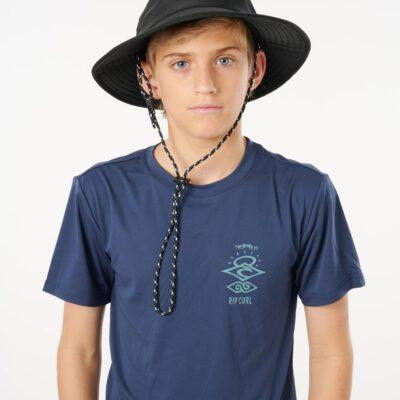 Sombrero RIP CURL de ala ancha algodón niños Beach hat-boy Ref. KHABF9 negro