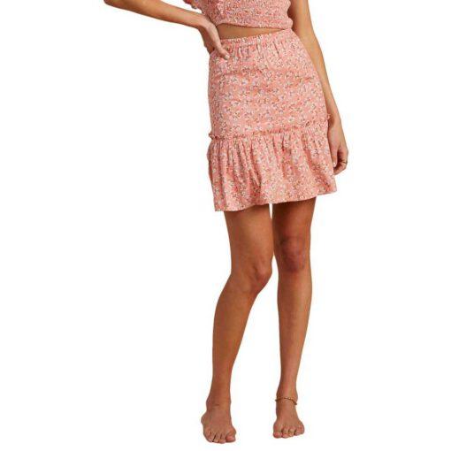 Falda midi BILLABONG para mujer Salty Blonde Upside PEACH OUT Ref. W3SK04 rosa flores