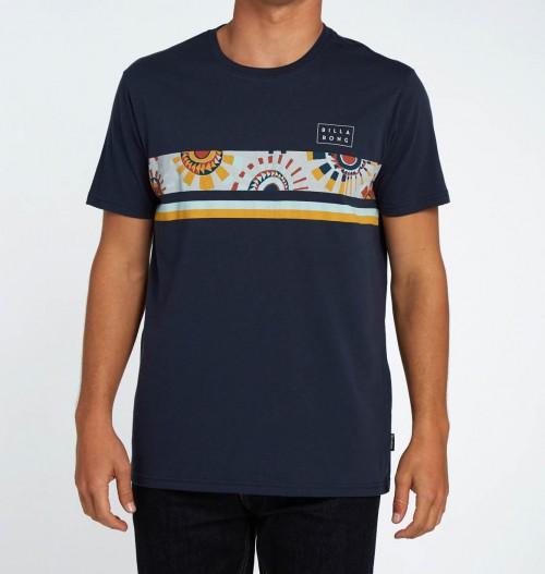 Camiseta BILLABONG para hombre manga corta Team stripe tee ss Ref. H1SS18 azul marino