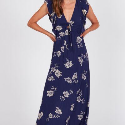 Vestido AMUSE SOCIETY largo con tirantes para mujer CAROLINA DRESS Ref. AD07KCAR azul flores