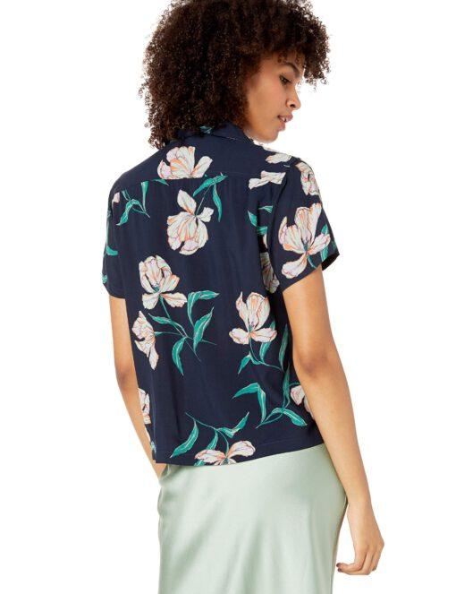 Camisa OBEY manga corta para mujer SUNSET SHIRT Ref. 281210080 azul flores