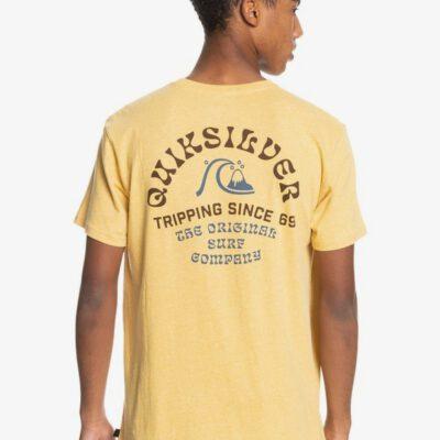 Camiseta QUIKSILVER Hombre manga corta Foreign Tides RATTAN HEATHER (yhph) Ref. EQYZT06362 amarilla clara