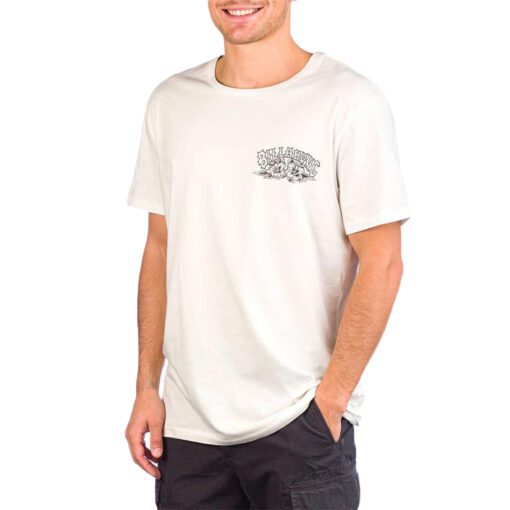 Camiseta BILLABONG surfera manga corta para hombre Charger Tee SS Snow Ref. S1SS18 blanca calaveras