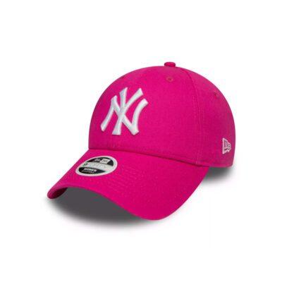 Gorra New Era Cap 9FORTY Adjustable SNAPBACK NEW YORK YANKEES Fashion Ref. 11157578 Fucsia logo blanco