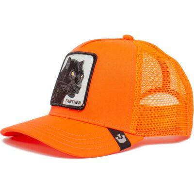 Gorra Animales GOORIN BROS rejilla TRUCKER Panther/ Pantera naranja fluor