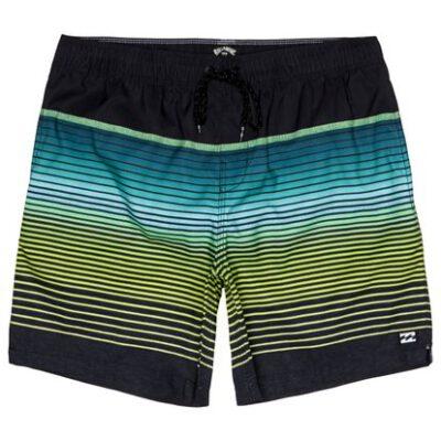 Bañador BILLABONG surfero niño Short elástico All Day Stripe Blacl Ref. S2LB12 multicolor rayas