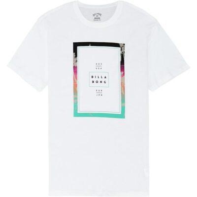 Camiseta BILLABONG para hombre manga corta Tucked SS TEE White Ref. S1SS11 blanca logo pecho