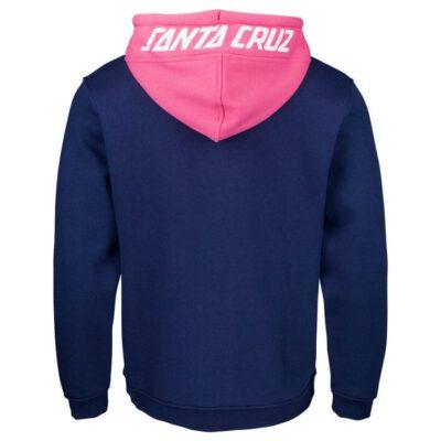 Sudadera Santa Cruz hombre con capucha y cremallera halo zip hood sca-hdz-0262 dark navy /orchid pink azul y rosa