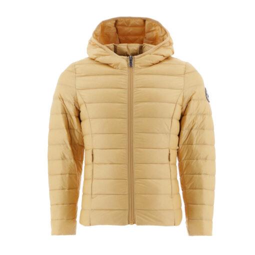 Chaqueta con capucha Jott de plumas pato Niña 628 ocre CARLA BASIC Justoverthetop Color amarillo claro