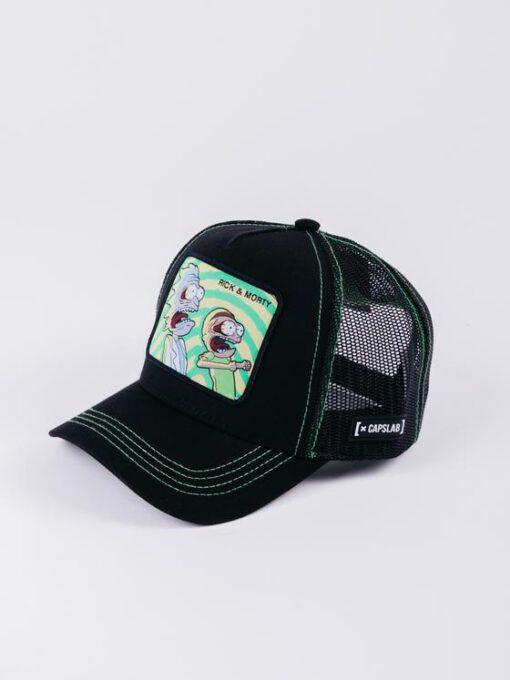 Gorra CAPSLAB Conejo Trucker Looney Tunes Dibujos animados Rick and Morty negra/verde